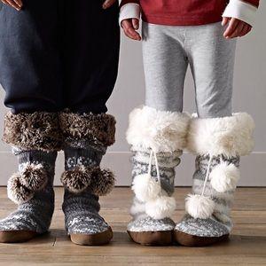 NWT RH Fair Isle slipper socks